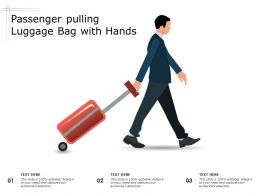 Passenger Pulling Luggage Bag With Hands