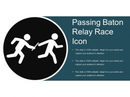 Passing Baton Relay Race Icon