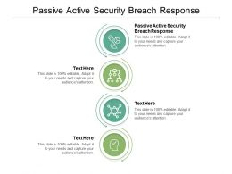 Passive Active Security Breach Response Ppt Powerpoint Presentation File Slide Cpb