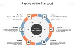 Passive Active Transport Ppt Powerpoint Presentation Infographics Smartart Cpb