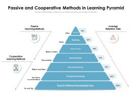 Passive And Cooperative Methods In Learning Pyramid