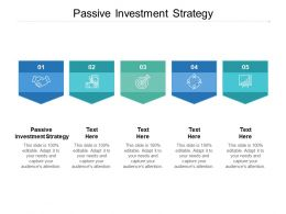 Passive Investment Strategy Ppt Powerpoint Presentation Background Cpb