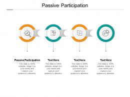 Passive Participation Ppt Powerpoint Presentation Infographics Aids Cpb