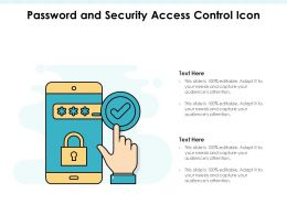 Password And Security Access Control Icon