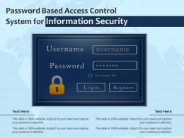 Password Based Access Control System For Information Security
