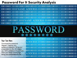 Password For It Security Analysis Ppt Slides