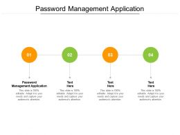 Password Management Application Ppt Powerpoint Presentation Ideas Visual Aids Cpb