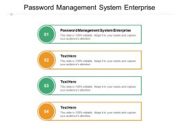 Password Management System Enterprise Ppt Powerpoint Presentation Professional Guide Cpb