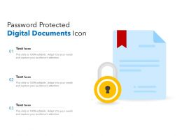 Password Protected Digital Documents Icon
