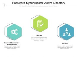 Password Synchronizer Active Directory Ppt Presentation Layouts Example Cpb