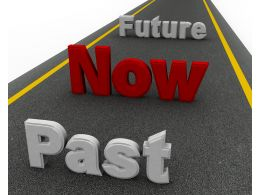 Past Now Future On Roadmap Graphic Stock Photo