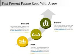 Past Present Future Road With Arrow Powerpoint Slide Images