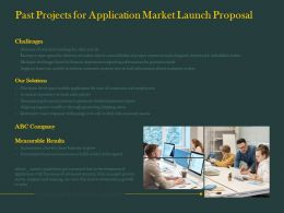 Past Projects For Application Market Launch Proposal Ppt Powerpoint Graphics Template
