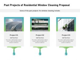 Past Projects Of Residential Window Cleaning Proposal Ppt Powerpoint Professional