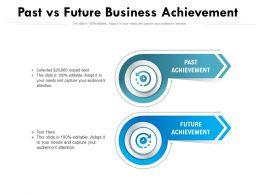 Past Vs Future Business Achievement