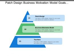 Patch Design Business Motivation Model Goals Objectives Themes Strategies