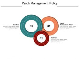 Patch Management Policy Ppt Powerpoint Presentation Examples Cpb