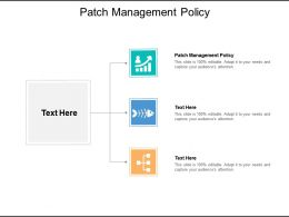 Patch Management Policy Ppt Powerpoint Presentation Summary Tips Cpb