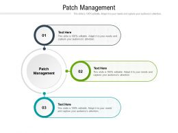 Patch Management Ppt Powerpoint Presentation Portfolio Gallery Cpb