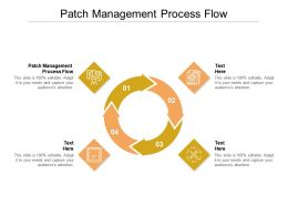 Patch Management Process Flow Ppt Powerpoint Presentation Example File Cpb