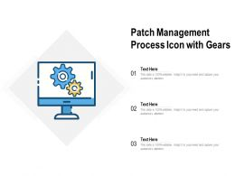 Patch Management Process Icon With Gears