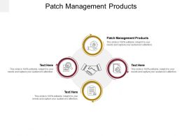 Patch Management Products Ppt Powerpoint Presentation Visual Aids Infographic Template Cpb