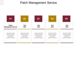 Patch Management Service Ppt Powerpoint Presentation Show Portfolio Cpb