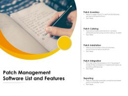 Patch Management Software List And Features