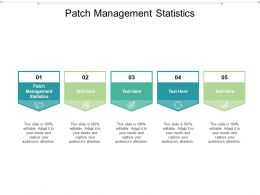 Patch Management Statistics Ppt Powerpoint Presentation Professional Gallery Cpb