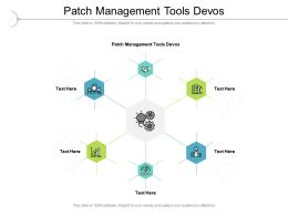 Patch Management Tools Devos Ppt Powerpoint Infographic Template Templates Cpb
