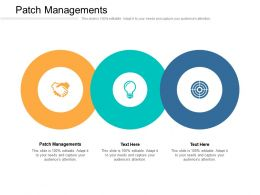 Patch Managements Ppt Powerpoint Presentation Gallery Layout Cpb