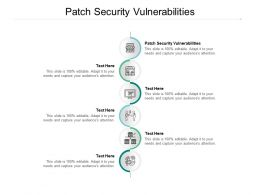 Patch Security Vulnerabilities Ppt Powerpoint Presentation Gallery Picture Cpb