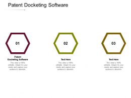 Patent Docketing Software Ppt Powerpoint Presentation Diagram Images Cpb