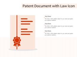 Patent Document With Law Icon