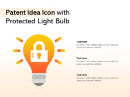Patent Idea Icon With Protected Light Bulb