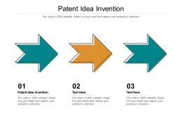Patent Idea Invention Ppt Powerpoint Presentation Summary Pictures Cpb