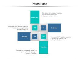 Patent Idea Ppt Powerpoint Presentation Portfolio Icon Cpb