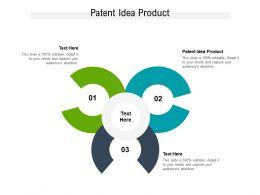 Patent Idea Product Ppt Powerpoint Presentation Show Design Templates Cpb