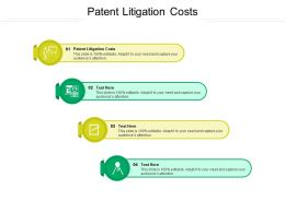 Patent Litigation Costs Ppt Powerpoint Presentation Icon Display Cpb