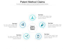 Patent Method Claims Ppt Powerpoint Presentation Pictures Smartart Cpb