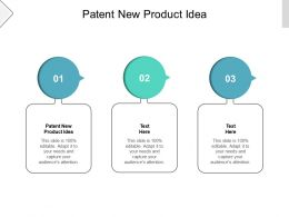 Patent New Product Idea Ppt Powerpoint Presentation File Portfolio Cpb