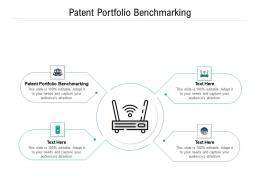 Patent Portfolio Benchmarking Ppt Powerpoint Presentation Gallery Objects Cpb