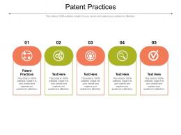 Patent Practices Ppt Powerpoint Presentation Pictures Graphics Tutorials Cpb