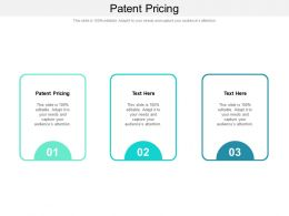 Patent Pricing Ppt Powerpoint Presentation Icon Styles Cpb