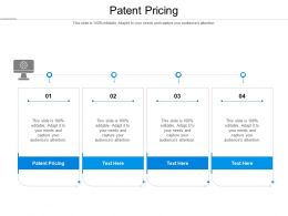 Patent Pricing Ppt Powerpoint Presentation Inspiration File Formats Cpb