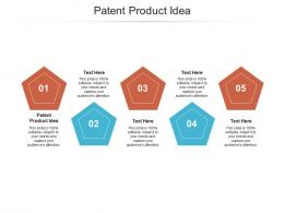 Patent Product Idea Ppt Powerpoint Presentation Icon Microsoft Cpb