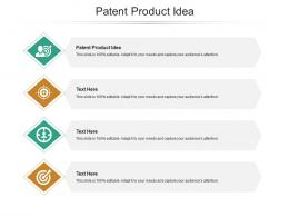 Patent Product Idea Ppt Powerpoint Presentation Infographic Template Introduction Cpb