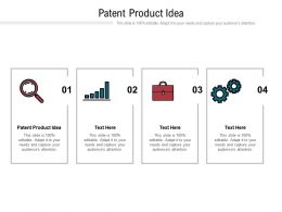 Patent Product Idea Ppt Powerpoint Presentation Summary Example Cpb