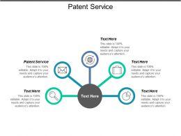 Patent Service Ppt Powerpoint Presentation Icon Design Ideas Cpb