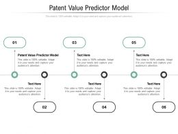 Patent Value Predictor Model Ppt Powerpoint Presentation Gallery Portrait Cpb